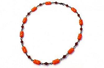 Náhrdelníky - Oranžová či hnedá? - 3841033_