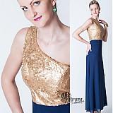 Šaty - Zlaté/strieborné/čierne flitrové spoločenské šaty - 3839583_