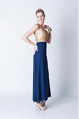 Šaty - Zlaté/strieborné/čierne flitrové spoločenské šaty - 3839587_