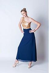 Šaty - Zlaté/strieborné/čierne flitrové spoločenské šaty - 3839588_