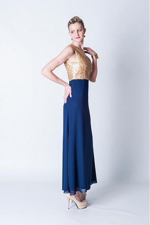 Zlaté strieborné čierne flitrové spoločenské šaty   Dyona - SAShE.sk ... 7b3b325952c
