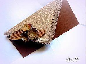 Papiernictvo - Natur obálka na peniažky - 3838744_