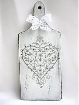 Dekorácie - Lopárik- srdce - 3846090_