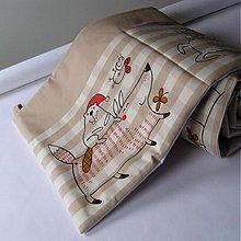 Úžitkový textil - V LESE ... kapsář, zástěna za postel - 3843411_