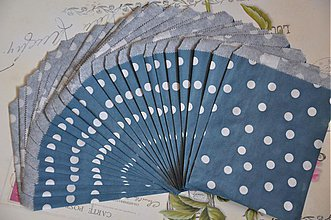 Obalový materiál - papierovy sacok modra bodka - 3847493_