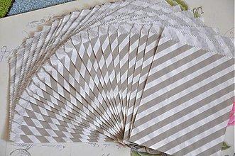 Obalový materiál - papierovy sacok sivy pruh - 3847541_