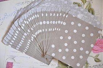 Obalový materiál - papierovy sacok siva bodka - 3847544_