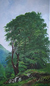 Tri stromy - ručne maľovaný obraz