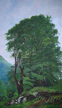 Obrazy - Tri stromy - ručne maľovaný obraz - 3848127_