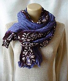 Šály - velikánsky bavlnený vrap s batikou - 3848825_