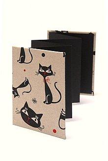 Detské doplnky - Minifotokniha-Leporelo Black Cat na foto 13x18 cm - 3848840_
