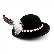 Čiapky - Goralský klobúk s pierkom - 3847495_