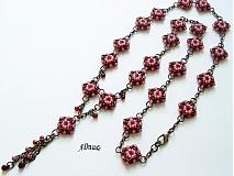 Korálkový náhrdelník Ružový opar