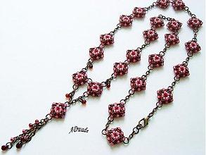 Náhrdelníky - Korálkový náhrdelník Ružový opar - 3855556_