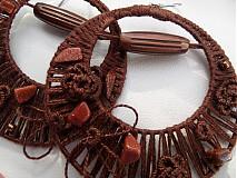 Náušnice - luxusná čokoládka - 3857176_