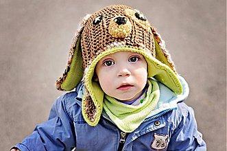 Detské čiapky - Obojstranný nákrčník - 3859096_