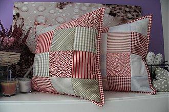 Úžitkový textil - patchwork obliecka za cenu obliečka 40x40 cm - 3860242_