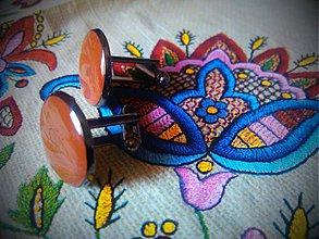 Šperky - Manžetové gombíčky brownie - 3859330_