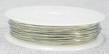 Suroviny - Drôtik Ø 0,3 mm, návin 23m - 3860953_