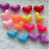 - Plast srdce 10x12mm-MIX-16ks - 3864793_