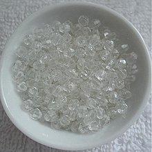 Korálky - Plast bicone 4mm-5g (priehľadná) - 3864292_