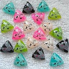 Komponenty - Plast trojuholník s LOVE-20ks - 3864768_