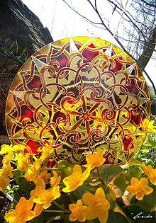 Dekorácie - Mandala Vášeň - 3863135_