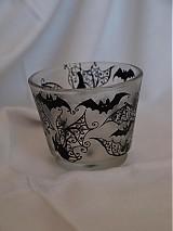 Svietidlá a sviečky - Svietnik na čajovú sviečku - Bats Ornaments - 3865103_