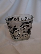 Svietidlá a sviečky - Svietnik na čajovú sviečku - Bats Ornaments - 3865107_