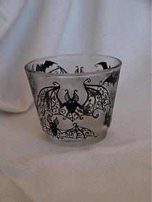 Svietidlá a sviečky - Svietnik na čajovú sviečku - Bats Ornaments - 3865101_