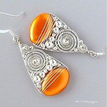 Náušnice - Náušnice Orange Bubbles... - 3864503_