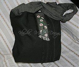 Veľké tašky - taška na plece hnedá kvety - 3865645_