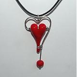 Náhrdelníky - Červené srdce - 3863569_