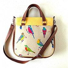 Veľké tašky - Big Sandy - S farebnými vtákmi - 3866531_