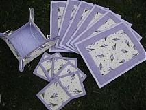 Úžitkový textil - levanduľa na stole... - 3868460_