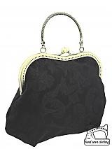 zľava Spoločenská kabelka čierná, kabelka plesová 1000A