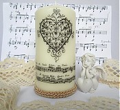 Svietidlá a sviečky - Sviečka- tóny srdca - 3874273_
