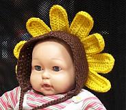 Detské čiapky - Slnečnica - 3872269_