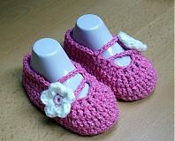 Topánočky - Ružové balerínky - 3872309_