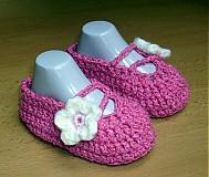 Topánočky - Ružové balerínky - 3872310_
