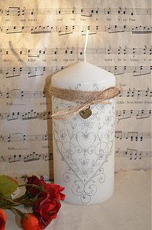 Svietidlá a sviečky - Sviečka s ornamentom - 3877181_