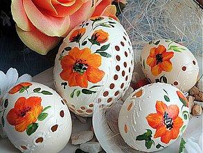 Dekorácie - Sada oranžových kraslíc - 3876558_