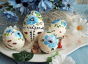 Dekorácie - Sada sv. modrých kraslíc - 3876587_