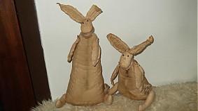 Dekorácie - vintage zajačiky - 3875115_