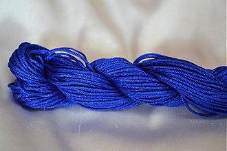 Galantéria - Šnúrka nylon kráľovská modrá 1mm, 0.11€/meter - 3876210_