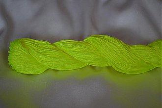 Galantéria - Šnúrka nylon neonova žltá, 1mm, 0.11€/meter - 3876579_