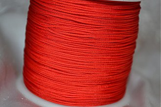 Galantéria - Šnúrka nylon červená, 0.8mm, 0.11€/meter - 3876619_