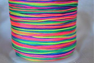 Galantéria - Šnúrka nylon neonova farebná, 0.8mm, 0.11€/ks - 3876696_