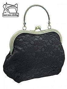 Kabelky - zľava Spoločenská čierná čipková kabelka, dámská kabelka 1065 - 3880525_