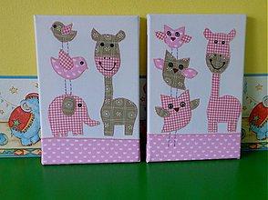 Dekorácie - žirafka-obrazy - 3878994_